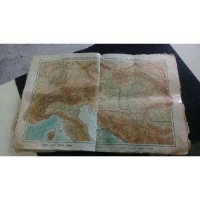 Mapa Antigo Da Segunda Guerra Mundial, Feb, Em Alemão
