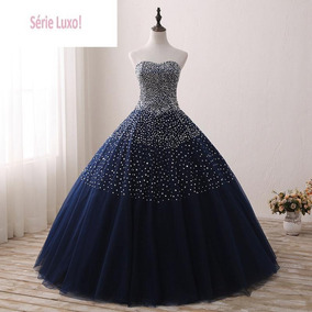 Vestido De Noivas 135340 Longoprincesa Promoção Azul Luxo