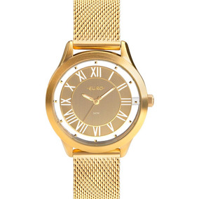 Relógio Euro Feminino Dourado Analógico Eu2039jh/4d