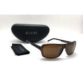 544f14c7d2d86 Oculos De Sol Guess Masculino Gu6541 Brn Marrom Original