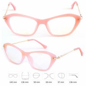 Armação De Oculos Feminina Acetato Com Metal Vintage Retrô e1f5b75758