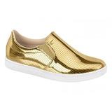 Tênis Sem Cadarço Feminino Linha Conforto Modare Dourado