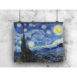 La Noche Estrellada Van Gogh Lienzo Tela Canvas 75x60cm