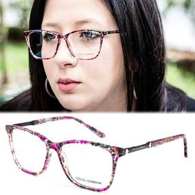 d19d0bce3ae62 Armação Oculos Grau Feminino Importado Dg40 Acetato Original. R  120