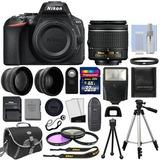 Cámara Nikon D5600 + 18-55mm + 2 Lentes + 32 Gb + Accesorio
