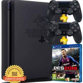 Ps4 Playstation 4 1tb Modelo 2215b Americano+ Jogo Pes 2019