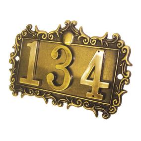 Placa Decorativa Porta Números Ashico