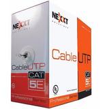 Rollo Cable Utp Cat5 Nexxt Cat5e Cetificado 305m Gris