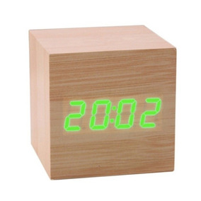 Relógio Led Clock Madeira Verde - Ledclockverde