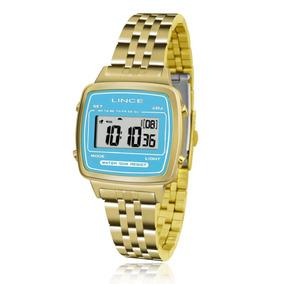 Relógio Feminino Lince Digital Sdph042l Bakx Fundo Azul