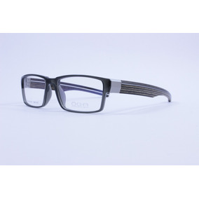 Óculos Oga 73010 Acetato Cinza - Hastes Madeira Natural b0ac6923b9