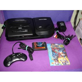 Mega Drive 3 + Sega Cd Tec Toy Com 1 Controle Original Jogos