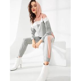 Tsuki Moda Japonesa Set Deportivo Casual Dama Pants Sudadera