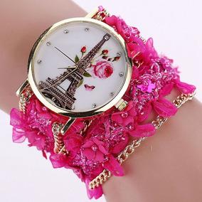 Relógio Luxo Pulseira De Renda E Correntes So Hoje