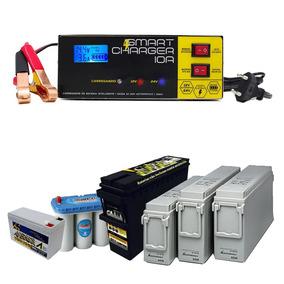 Carregador Bateria 12v 24v Visor Digital Carga Tensão 10a