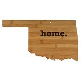 Oklahoma Con Forma De Madera De Bambú Tabla De Cortar Grabad