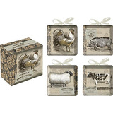 Placas Decorativas De Ceramica Urban Farmhouse Set De 4