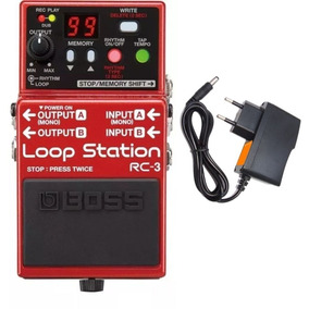 Pedal Boss Rc3 Loop Station 99 Memorias Rc 3 + Fonte