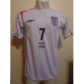 Camiseta Selección Inglaterra Alemania 2006 Beckham #7 T. M
