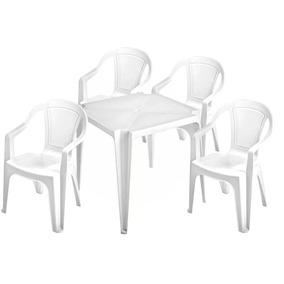 Conjunto De Mesas E Poltronas De Plástico Para 182 Kg