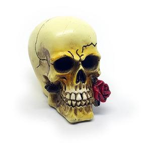 Mini Caveira Resina Red Rose 827bda98834