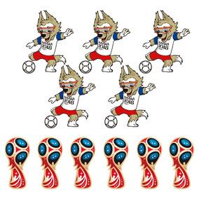 Kit De Adesivos Copa Do Mundo 2018 - Mascote E Taça a3f41b9c862