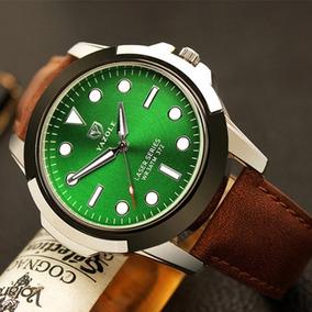 Reloj Elegante De Cuarzo Marca Yazole Casual Verde