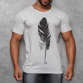 Camisa T-shirt Com Silk Desenho Pena Camiseta Riviera Off