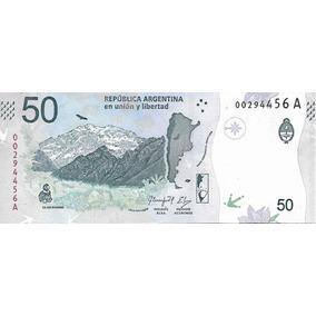 Nuevo Billete Argentina $ 50 Condor Sin Circular Palermo