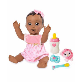 Boneca Realista Bebê Robô Luvabella Negra