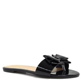 Rasteira Zariff Shoes Verniz Laço Preto | Zariff