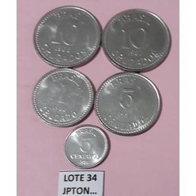 5 Moedas Brasileiras Em Ótimo Estado (lote 35)