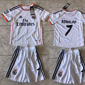 bfa6238333d0b Conjunto Camiseta Y Short Real Madrid 2017 Niño -  7 Ronaldo