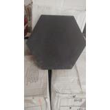 Lote De Ceramico Hexagonal Negro De 8 X8