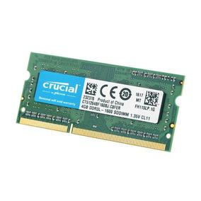 Memoria Crucial 8gb Ddr3l-1600 Sodimm - Ct51264bf160b