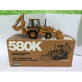 Retroescavadeira Case 580k 1/35 Em Metal = Arpra Tekno Wsi