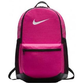 Mochila Nike Brasilia Media Rosa Original- Envio Com Nota
