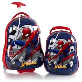 Maleta Mochila Para Viaje Set De 2 De Spiderman Marca Heys