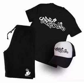 Kit Camiseta + Boné + Bermuda Cabo Enrolado No Grau Conjunto e1be9fd603d37