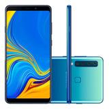 Asamsung Galaxy A9 2018 Azul, 128gb, 6gb Ram, 4 Cam, Novo