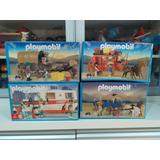 Brinquedo Antigo Playmobil Antex Western Carroça Ambulância