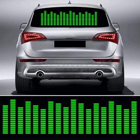 Adesivo Equalizador 12v 90x25cm Painel Led Carro Verde