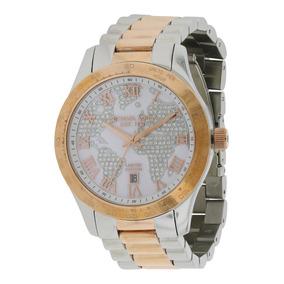 Relógio Michael Kors Mk6129 Layton Prata Rose Caixa Original 5db0f954ba