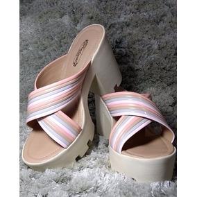Sapato Feminino Sandália Tratorada