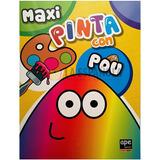 Pinta Con Pou - Libro Para Pintar - Colorido - Nuevo - Niños