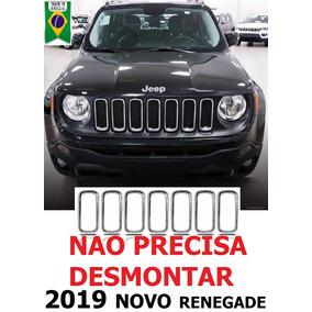 Grade Arcos Jeep Renegade 2019 Cromado Friso Moldura Pcd Lon