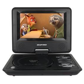 Dvd Portatil 7,5 Sd Usb Fm Mp3 Infantil Carro Completo