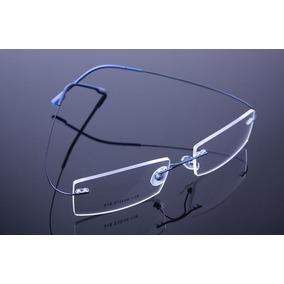 a0894dc6f6e5f Armação Discreta Azul Invisível Óculos Grau Titanium - A574 · R  69 99