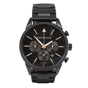 Relógio Quiksilver The Timebox Chrono Metal Black Rose Gold