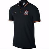 Camisa Corinthians Polo Preto Camiseta Timão Polo Promoção